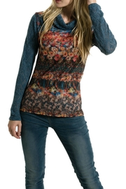 Smash  Monet Garden Turtleneck Top - Product Mini Image