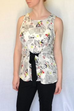 Smash  Printed Tie Blouse - Product List Image