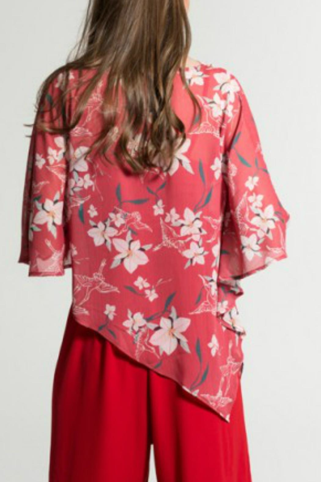 Smash  Red Floral Cape - Side Cropped Image