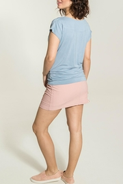 Smash  Rippled Periwinkle Top - Side cropped