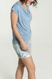 Smash  Rippled Periwinkle Top - Front full body
