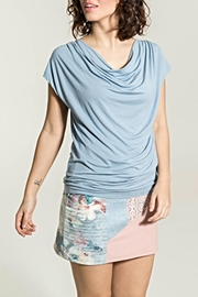 Smash  Rippled Periwinkle Top - Front cropped