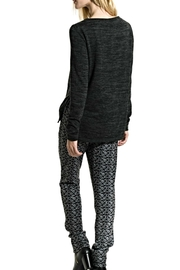 Smash  V Neck Melange Sweater - Front full body