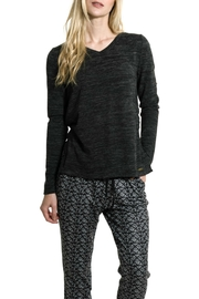 Smash  V Neck Melange Sweater - Front cropped