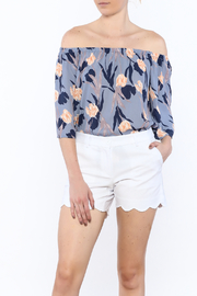Smell the Roses Periwinkle Floral Top - Product Mini Image