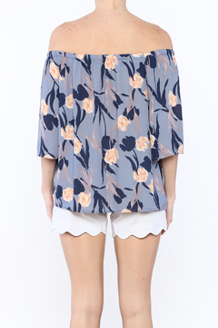 Smell the Roses Periwinkle Floral Top - Alternate List Image