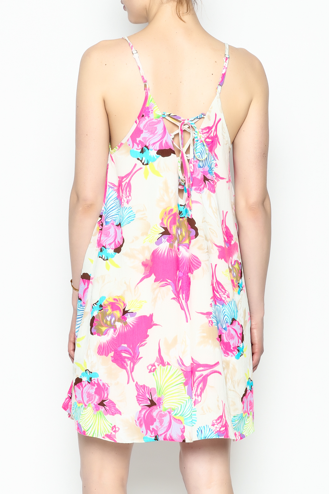 Smell the Roses Tropical Macy Dress - Back Cropped Image