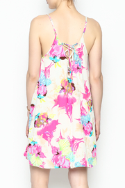Smell the Roses Tropical Macy Dress - Back cropped