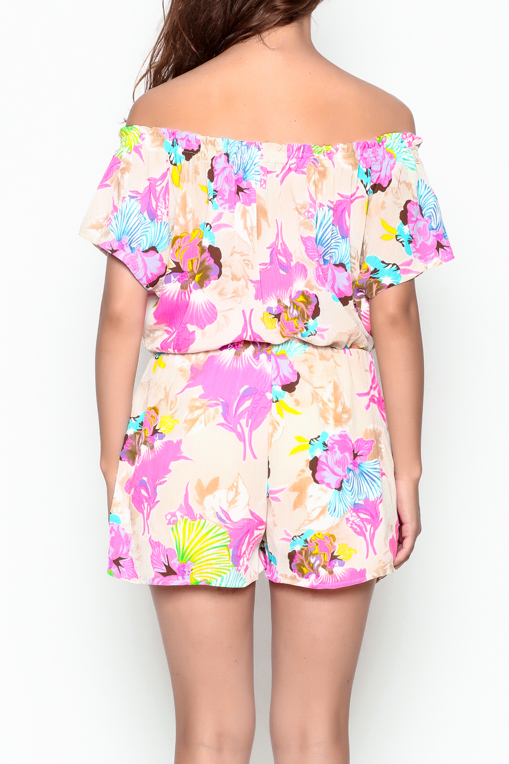 Smell the Roses Tropical Natalie Romper - Back Cropped Image