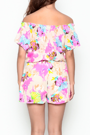 Smell the Roses Tropical Natalie Romper - Back cropped