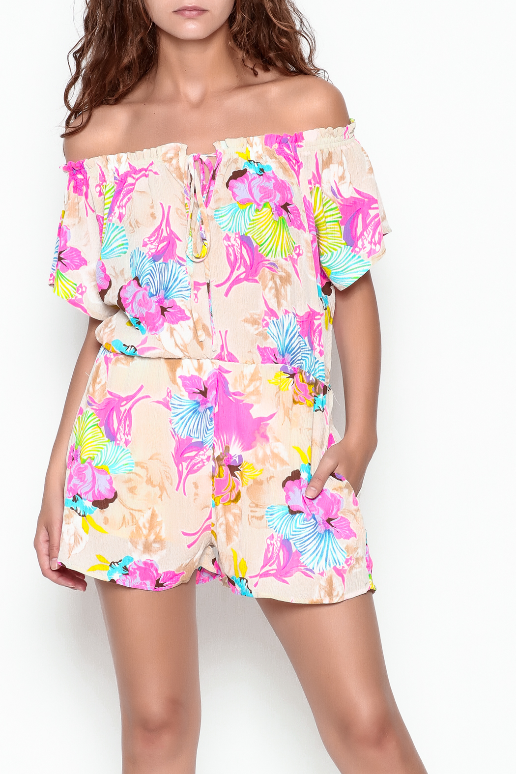 Smell the Roses Tropical Natalie Romper - Side Cropped Image