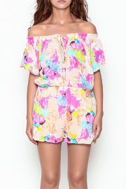 Smell the Roses Tropical Natalie Romper - Front cropped