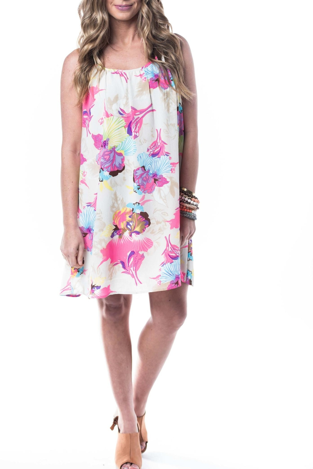 Smell the Roses Floral Dress - Front Cropped Image