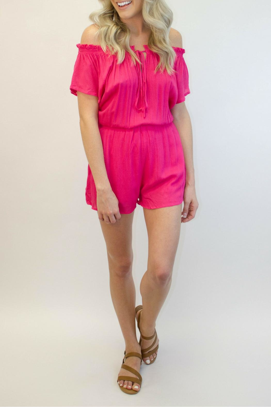 Smell the Roses Hot Pink Romper - Main Image