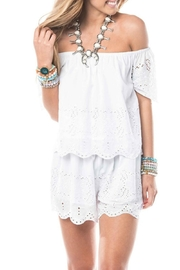 Smell the Roses White Eyelet Top - Product Mini Image