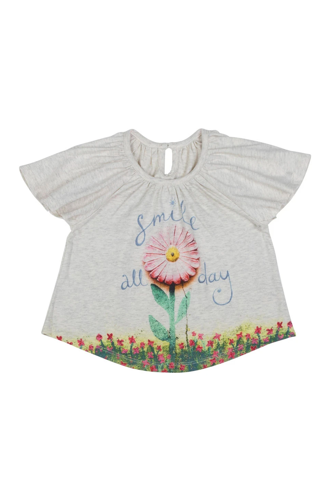 Paper Wings Smile All Day Tank - Front Cropped Image