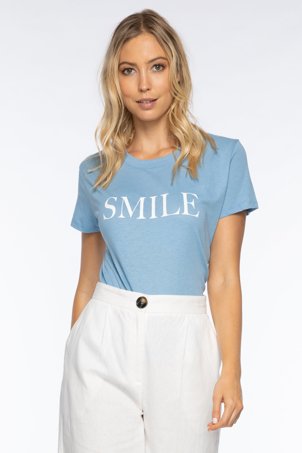 Suburban riot Smile Loose Tee - Front Full Image
