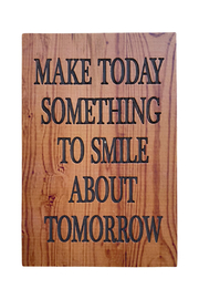 Ganz Smile Natural Thoughts Plaque - Product Mini Image