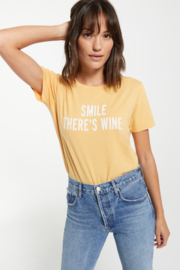 z supply Smile There is Wine Tee - Front cropped