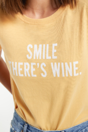z supply Smile There is Wine Tee - Front full body