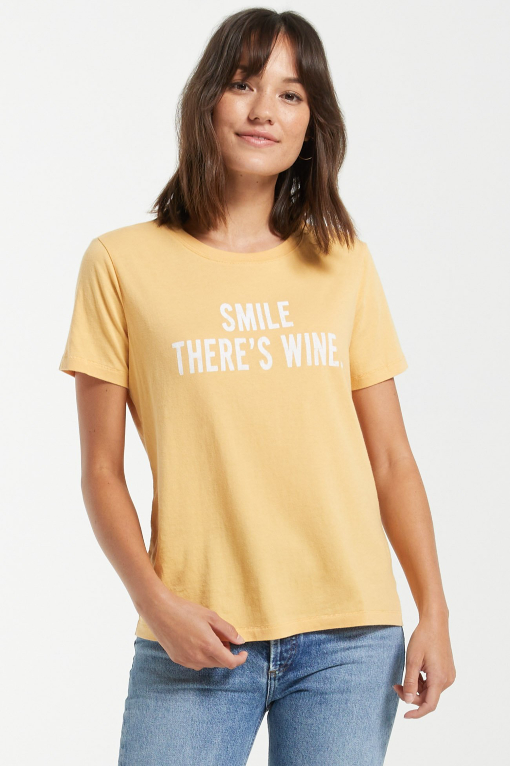 z supply Smile There is Wine Tee - Side Cropped Image