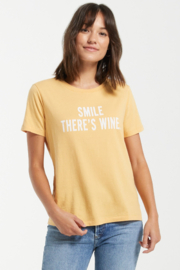 z supply Smile There is Wine Tee - Side cropped