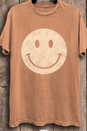 Lotus Fashion Smiley Face Graphic T - Front cropped