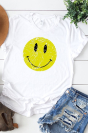 kissed Apparel Smiley Face graphic tee - Product Mini Image