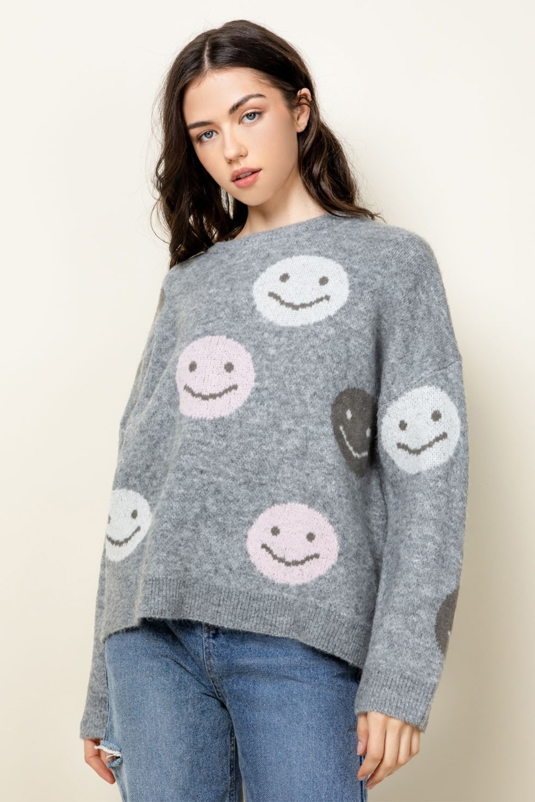 Thml Smiley Face Sweater - Main Image