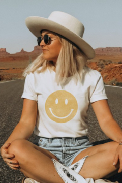 Oat Collective Smiley Face Tee - Alternate List Image