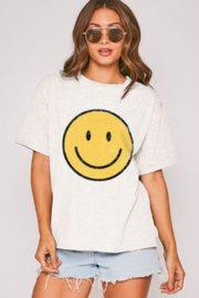 Fantastic Fawn Smiley Face Tee - Front cropped