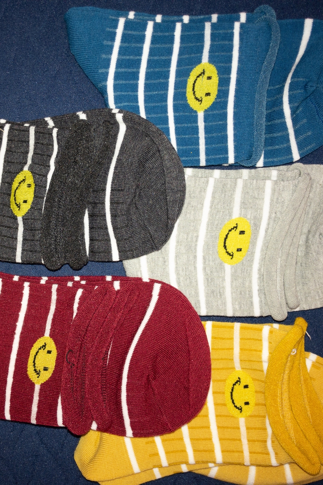 Supplied Smiley Stripes Crew Socks - Main Image