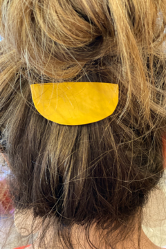 Necessary Creations Smiley Yellow Hair Clip - Alternate List Image