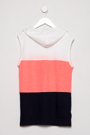 Smiths American Sleeveless hoodie - Back cropped