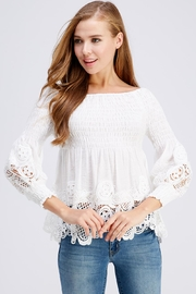 Petalroz Smock Lace Blouse - Product Mini Image