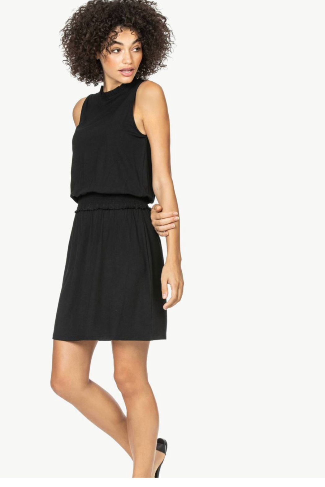 Lilla P Smock waist detail dress - Front Cropped Image