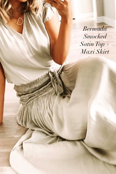 Current Air Smock Waist Maxi Skirt OR Dress - Alternate List Image