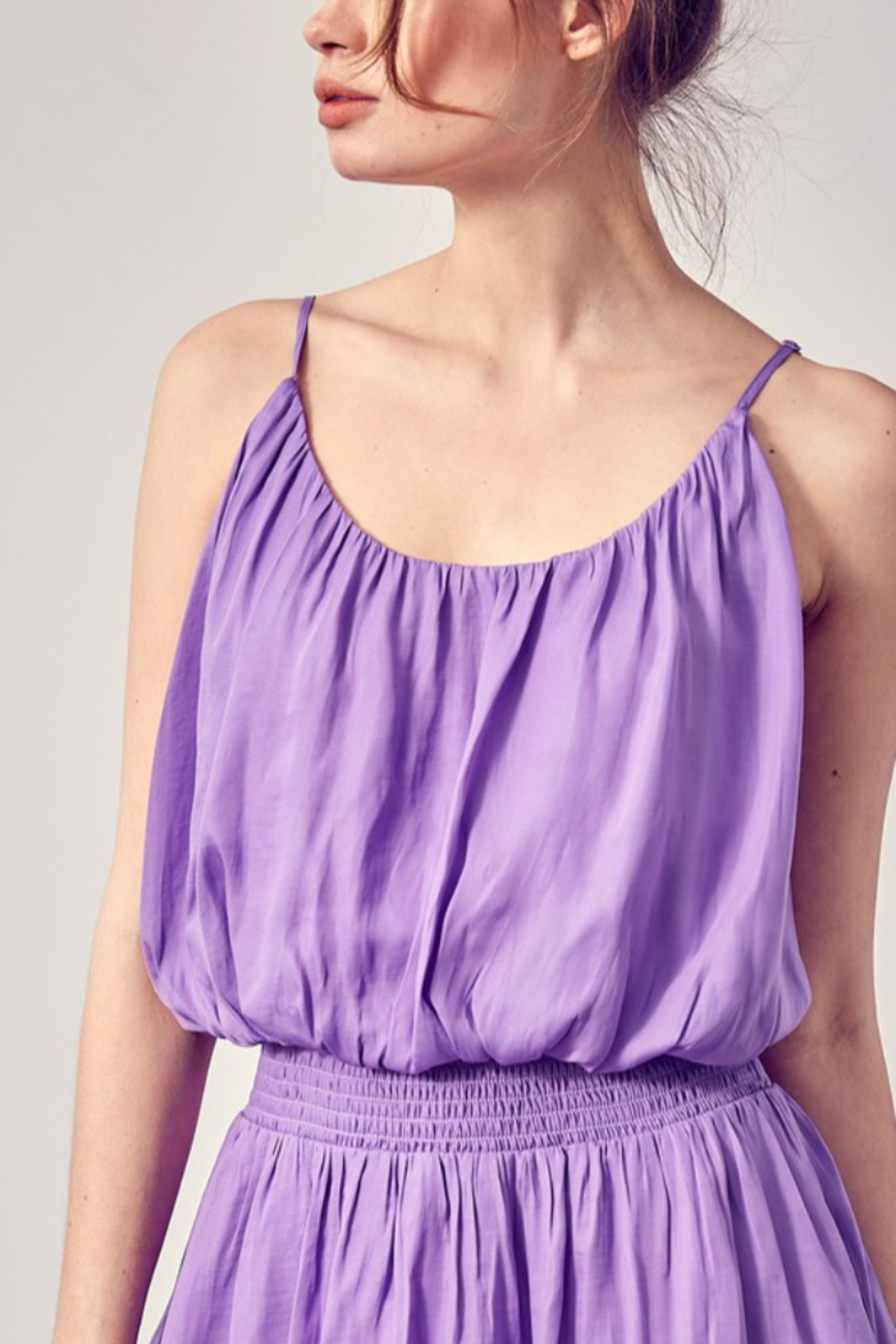 Do + Be  Smock Waist Strappy Dress - Side Cropped Image