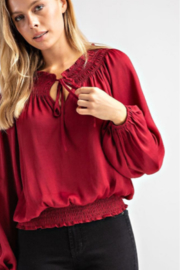 Glam Smock Waist Top - Side cropped