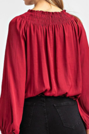Glam Smock Waist Top - Back cropped