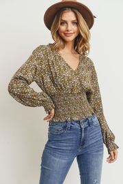 Paper Crane Smock Waisted Top - Front cropped
