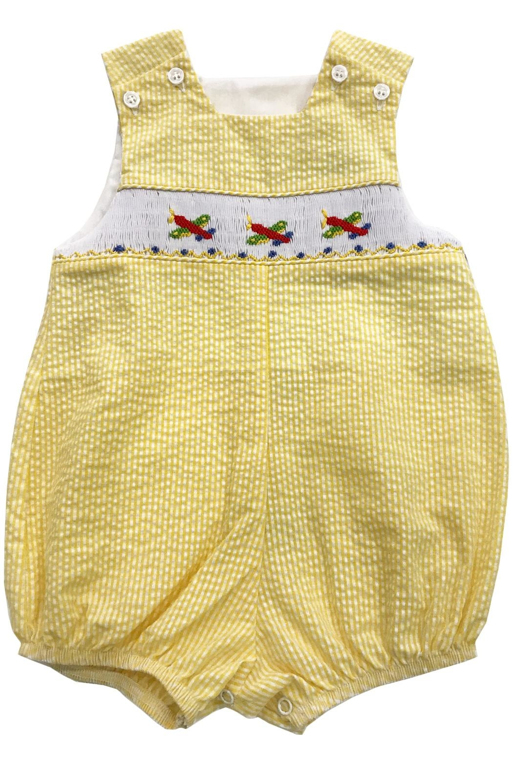 Bailey Boys Smocked Airplanes Infant-Bubble - Main Image
