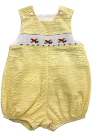 Bailey Boys Smocked Airplanes Infant-Bubble - Front cropped