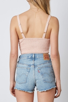 Cotton Candy  Smocked Back Cropped Top - Alternate List Image