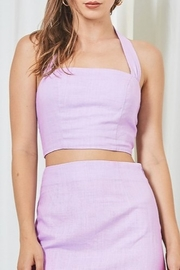 etophe Smocked Back Halter Top - Product Mini Image