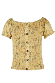 Beautees Smocked Crop Top - Product Mini Image