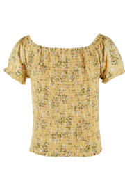 Beautees Smocked Crop Top - Front full body