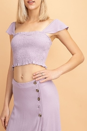 Le Lis Smocked Crop Top - Front cropped