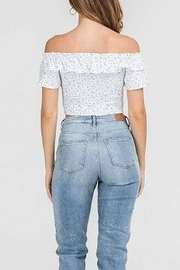 Lush Smocked Crop Top - Front full body