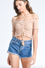 storia Smocked Crop top - Side cropped